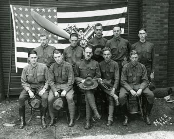 Image of Ohio State cadets in 1917
