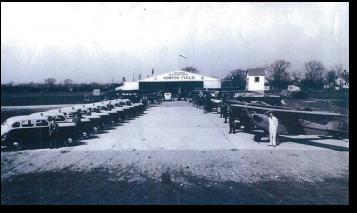 Image in black and white of Norton Field in central Ohio